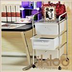 【ikloo】可移式三層白色抽屜收納箱