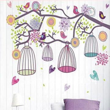 Christine創意組合DIY壁貼/牆貼/兒童教室佈置 快樂鳥兒(可重複貼)