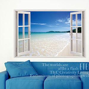 Christine景觀窗貼/壁貼/居家佈置 窗型A (B017)