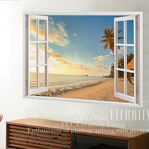Christine景觀窗貼/壁貼/居家佈置 窗型A (B018)