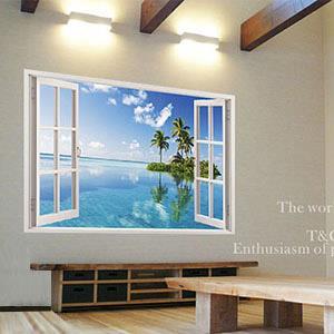 Christine景觀窗貼/壁貼/居家佈置 窗型A (B019)