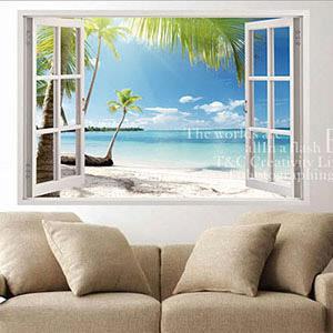 Christine景觀窗貼/壁貼/居家佈置 窗型A (B030)
