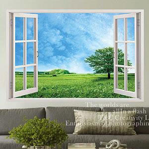Christine景觀窗貼/壁貼/居家佈置 窗型A (F045)