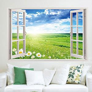 Christine景觀窗貼/壁貼/居家佈置 窗型A (F056)