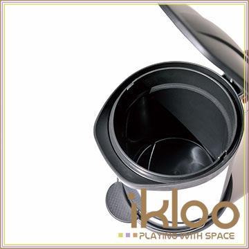 【ikloo】不鏽鋼腳踏垃圾桶-5L(台灣製造)
