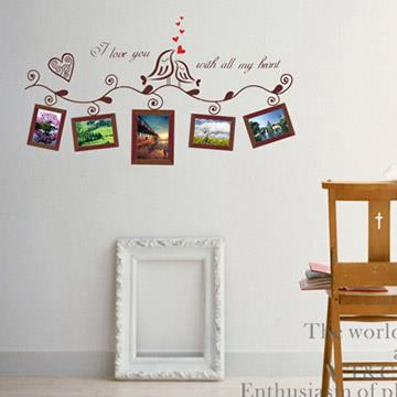 Christine照片相框貼/DIY壁貼/浪漫裝飾貼(小) 幸福青鳥