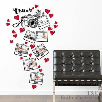 Christine照片相框貼/DIY壁貼/浪漫裝飾貼(小) 愛心相機