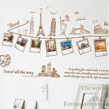 Christine照片相框貼/DIY壁貼/浪漫裝飾貼 環遊世界