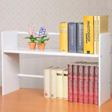 《YoStyle》和風伸縮式桌上書架(二色任選)