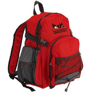 《北歐設計》紅色運動休閒後背包