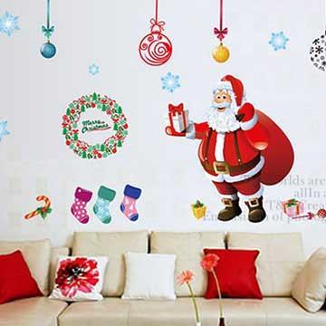 Christine耶誕節慶佈置/牆貼 卡通貼/MD003 你的禮物