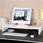 YoStyle 伸縮式桌上型置物架(純白色)