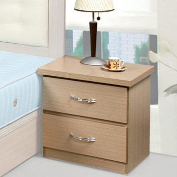 YoStyle 艾凡二抽床頭櫃-白橡木紋