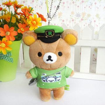 【限定】Rilakkuma拉拉熊電車山手線限定毛絨吊飾。車長
