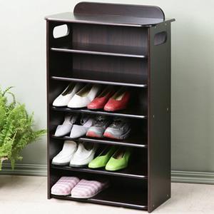 YoStyle 新古典歐風六層鞋櫃-胡桃色