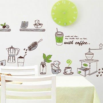 Christine創意組合DIY壁貼/牆貼/兒童教室佈置 午後時光(可重複貼)