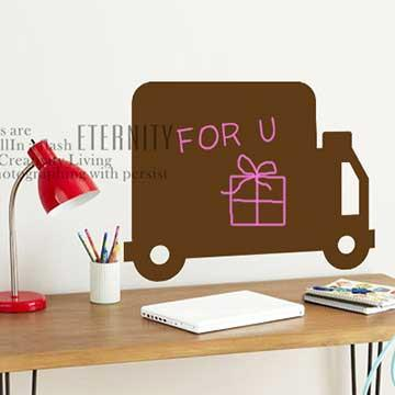Christine創意DIY塗鴉壁貼 / 留言貼 / BK013 祝福快車