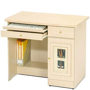 YoStyle  自然風味電腦桌(白橡木紋)