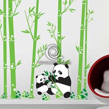 Christine創意組合DIY壁貼/牆貼/兒童教室佈置 國寶熊貓(可重複貼)