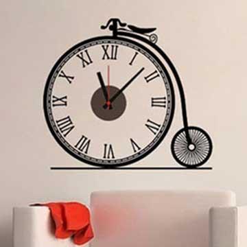 Christine時尚壁貼鐘/壁鐘/牆貼 CL008 復古單車