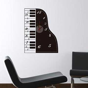 Christine時尚壁貼鐘/壁鐘/牆貼 CL016 鋼琴之戀