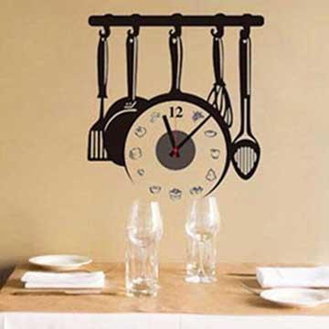 Christine時尚壁貼鐘/壁鐘/牆貼 CL021 超級料理