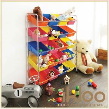 【ikloo】可移式20格玩具收納組