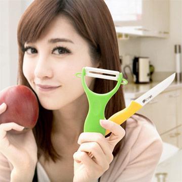 【JoyLife】絢彩輕巧陶瓷雙刀組(水果刀+削皮刀)