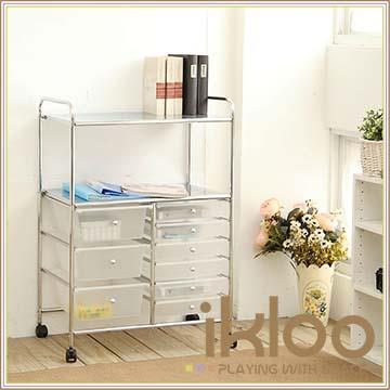 【ikloo】可移式多功能五層9格收納架