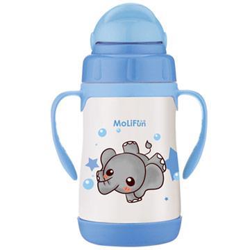 【MoliFun魔力坊】不鏽鋼真空兒童吸管杯/學習杯260ml-淘氣象