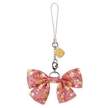 Rilakkuma拉拉熊10周年紀念歡樂時光蝴蝶結吊飾。小雞(桃紅)