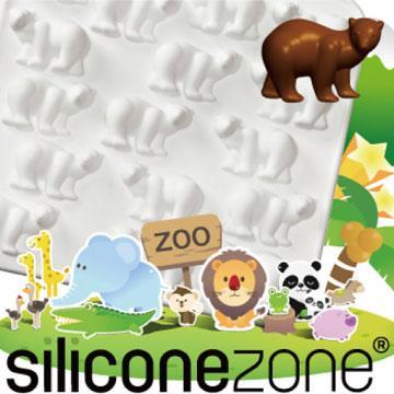 【Siliconezone 】施理康ZOO耐熱巧克力模/冰模-白北極熊