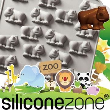 【Siliconezone 】施理康ZOO耐熱巧克力模/冰模-灰犀牛