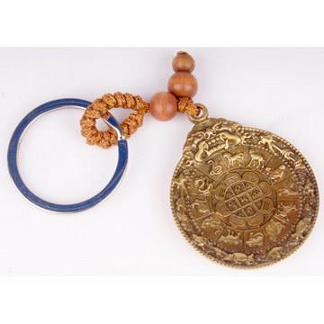 九宮八卦轉運葫蘆銅盤鑰匙圈