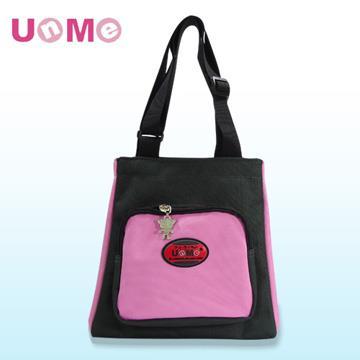 【UnMe】文青輕巧餐袋/黑粉紅