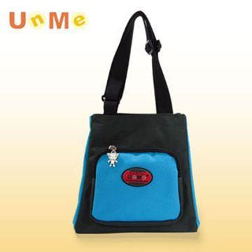【UnMe】文青輕巧餐袋/黑粉藍