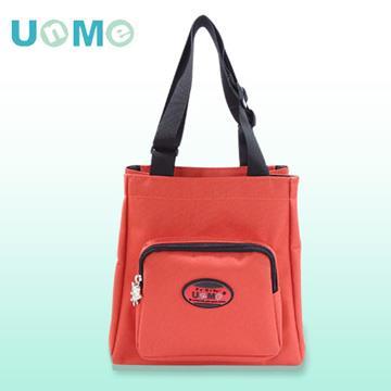 【UnMe】文青輕巧餐袋/磚紅