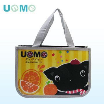【UnMe】可愛防水多功能便當袋/ 黃色