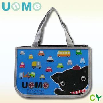 【UnMe】可愛防水多功能便當袋/ 藍色