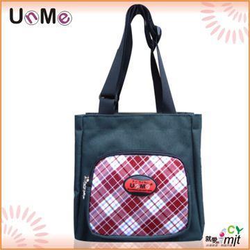 【UnMe】可愛格紋輕巧餐袋/紅格色