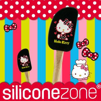 【Siliconezone】施理康Hello Kitty奶油刮刀-黑