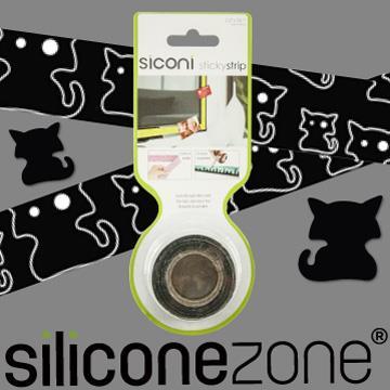 【Siliconezone】施理康Siconi環保矽膠任意膠帶貼-貓咪