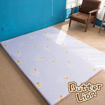 【奶油獅】正版授權-台灣製造-葉語純棉紙纖三合一記憶床墊-單人3尺(幻紫)