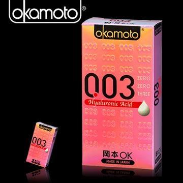岡本003-HA 玻尿酸極薄保險套(6入裝)