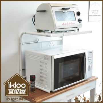 【ikloo】時尚微波爐伸縮置物架