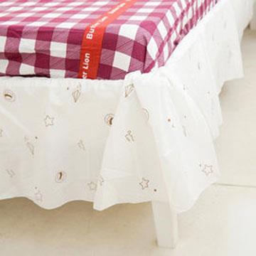 【奶油獅】星空飛行-台灣製造-美國防瞞抗菌表布床裙/夏罩-單人3.5尺