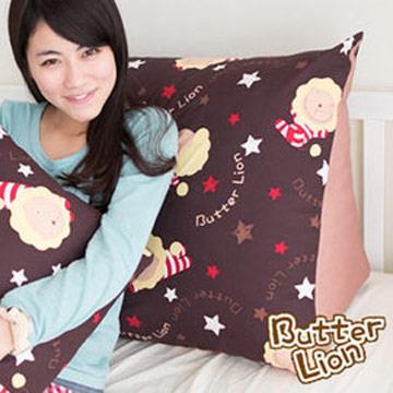 【奶油獅】正版授權-台灣製造~搖滾星星三角靠墊-咖啡(一入)