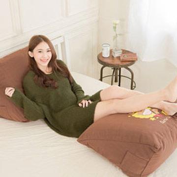 【奶油獅】正版授權-100%台灣製造 加厚精緻貼布鏽 星星牛仔布套可拆三角靠墊/美腿枕-(二入)