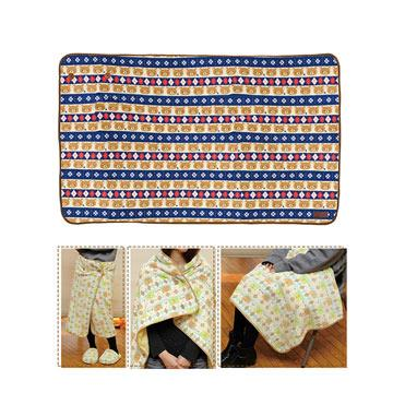 San-X 拉拉熊冬季之戀3 way保暖毛毯70x115cm。懶熊款