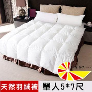 【凱蕾絲帝】台灣制造~專櫃級耐寒5℃100%純天然羽絨被(單人5**7尺)~好評回購商品